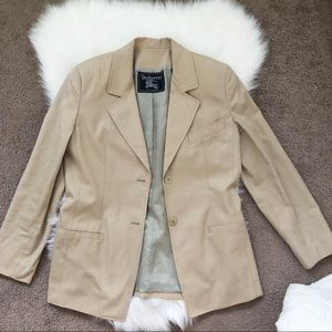 Burberry Tan Blazer Tailored Jacket